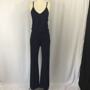 Trina Turk Sleeveless V-neck Jumpsuit in navy